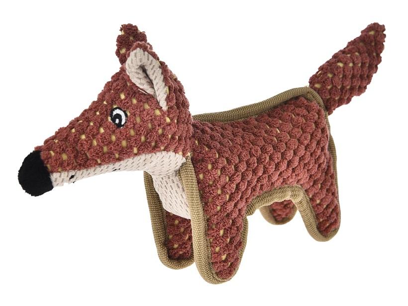 Hračky   Plyšová hračka ve tvaru lišky - 22x13 cm   Petproducts.cz -  Velkoobchod chovatelskch potřeb
